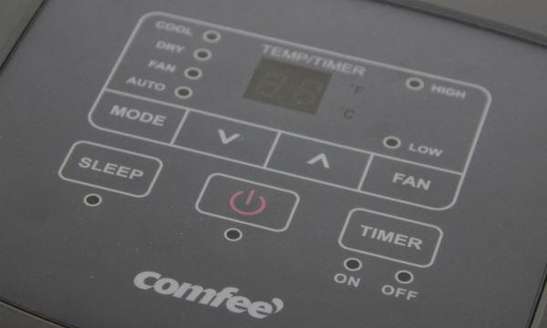 Tableau de commandes du climatiseur mobile Comfee