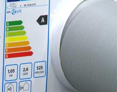 Vérifiez la classe énergétique du climatiseur mobile