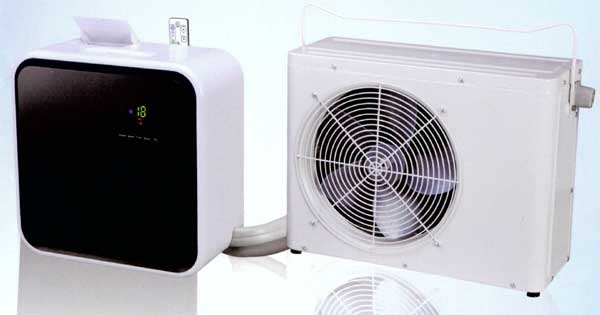 Climatiseur mobile split : ventilateur et compresseur