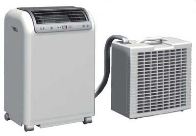 Climatiseur mobile split : deux unités séparés