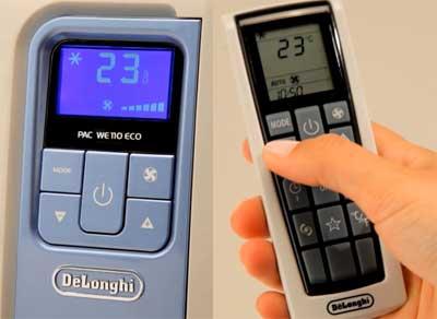 Réglage du climatiseur mobile avec la télécommande