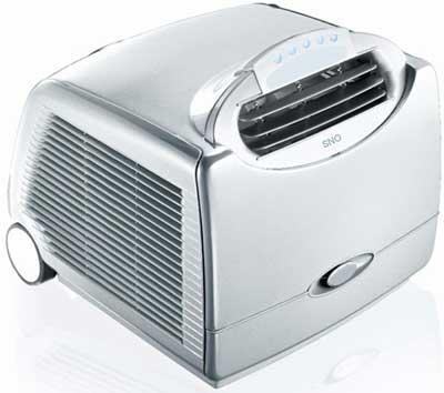 Un climatiseur sur roulettes
